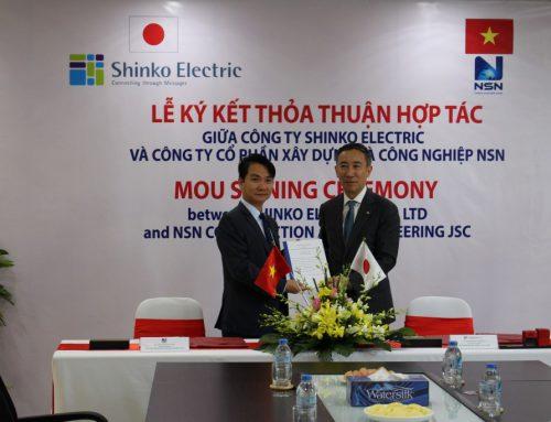 Ký kết thỏa thuận hợp tác với Công ty Shinko Electric