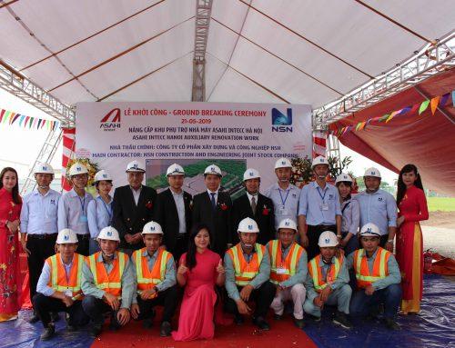 Lễ khởi công: Nâng cấp khu phụ trợ nhà máy Asahi Intecc Hà Nội