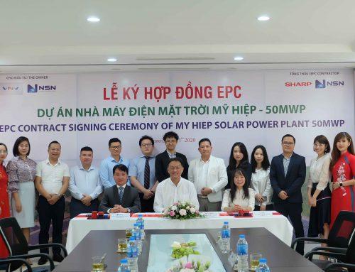 NSN: Lễ ký hợp đồng EPC dự án Nhà máy ĐMT Mỹ Hiệp 50MWp